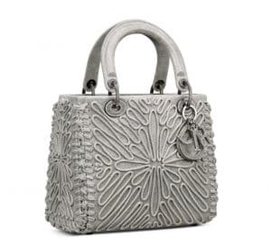 Lady Dior Silver Embroidered Bag - Pre-fall 2021