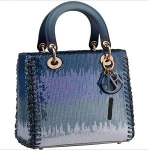 Lady Dior Blue Gradient Sequins Bag - Prefall 2021