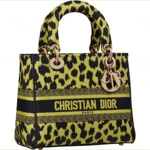 Dior D-Lite Neon Leopard Bag - Prefall 2021