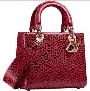 Red Lady Dior Leopard Print - Prefall 2021