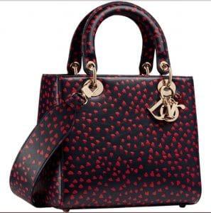 Lady Dior Red Print Bag - Prefall 2021
