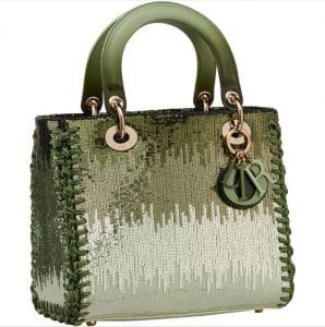 Lady Dior Green Sequins Bag - Prefall 2021