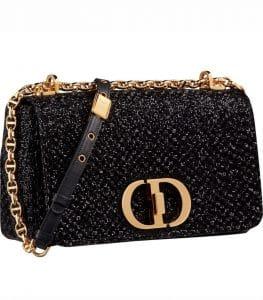Dior Black Embroidered Caro Bag - Prefall 2021