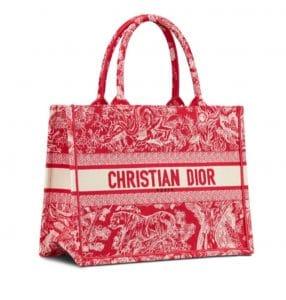 Dior Red Book Tote Leopard Print - Prefall 2021