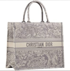 Dior Toile de Jouy Grey Print Bag -Prefall 2021