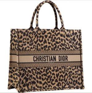 Dior Leopard Print Book Tote Bag - Prefall 2021