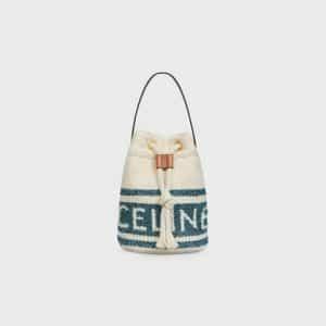 Celine Full Sun Bucket Model Teen Bag Blue Tan