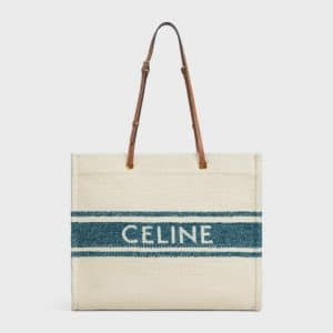 Celine Full Sun Tote Bag Blue Tan