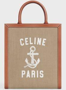 Celine Hessian Printed Small Vertical Tote Bag