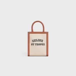 Celine Natural/Tan St. Tropez Mini Vertical Cabas Bag