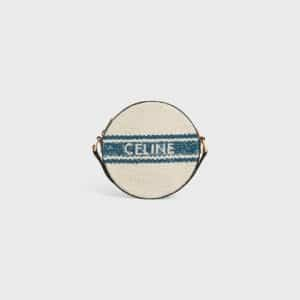 Celine Plein Soleil Round Pouch Blue Tan