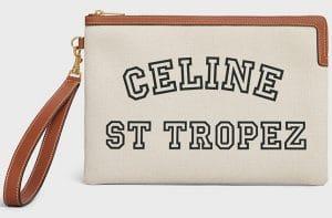 Celine Natural/Tan St. Tropez Small Pouch Bag