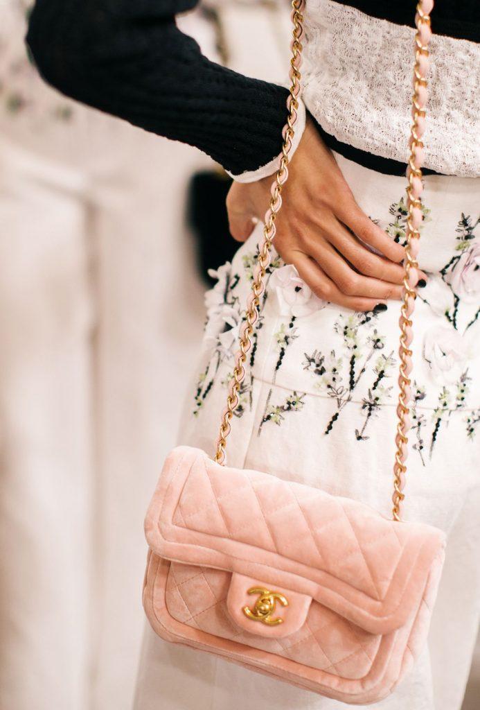 Chanel Pink Velvet Flap Bag - Cruise 2022