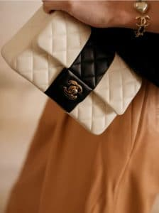 Chanel White Bicolor Flap Bag - Cruise 2022