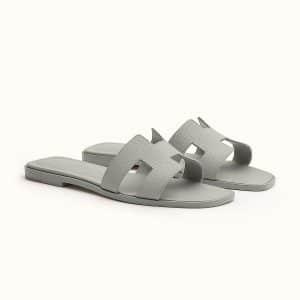 Hermes Grey Oran Sandal - Fall 2021