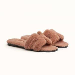Hermes Oran Sheepskin Beige Sandal - Spring 2021