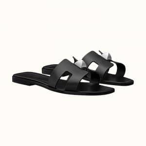 Hermes Oran Stud Black Sandal - Fall 2021