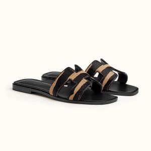 Hermes Oran Tiger Sandals