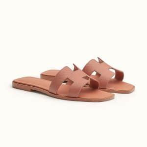 Hermes Pink Oran Sandal - Fall 2021