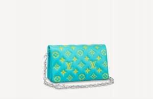 Louis Vuitton Neon Green Pochette Coussin Bag - Prefall 2021