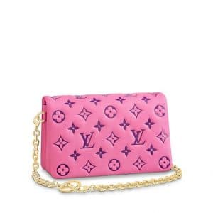 Louis Vuitton Pink and Purple Pochette Coussin - Pre-Fall 2021 (1)
