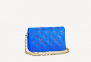 Louis Vuitton Pochette Coussin Blue Bag - Prefall 2021