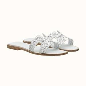 Oran Sandal Perforated in Blanc