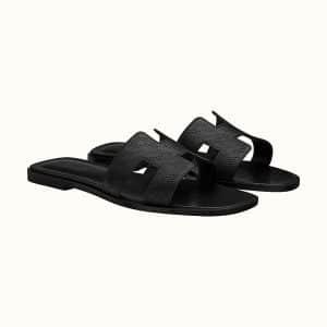 Oran Sandal Perforated in Noir