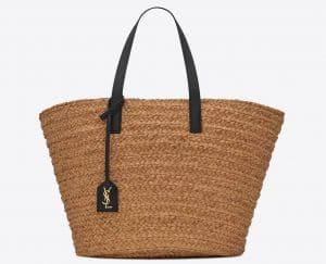 Panier Medium Bag in Raffia Natural