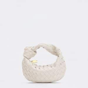 Bottega Veneta Chalk Mini Jodie Bag