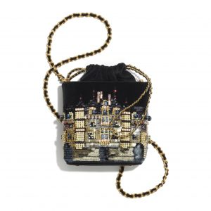 Chanel Black Small Bucket With Chain