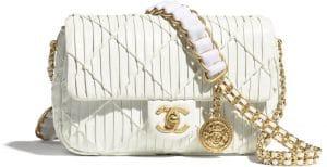 Chanel White Medallion Strap Bag - Prefall 2021