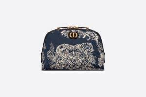 Dior Blue Toile De Jouy Medium 30 Montaigne Beauty Pouch