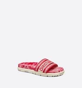 Dior Raspberry Toile De Jouy Dway Slide