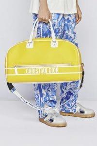 Dior Yellow Leather Bowler Bag
