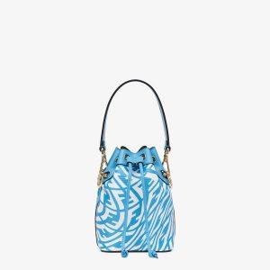 Fendi Blue FF Vertigo Mon Tresor Bag