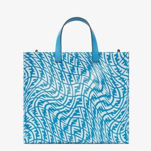 Fendi Blue FF Vertigo Shopper Bag