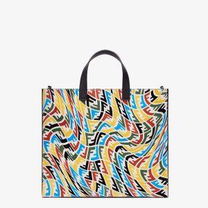 Fendi Multicolor FF Vertigo Shopper Bag