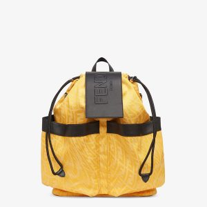 Fendi Yellow FF Vertigo Drawstring Backpack