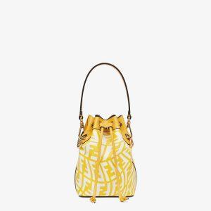 Fendi Yellow FF Vertigo Mon Tresor Bag