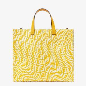 Fendi Yellow FF Vertigo Shopper Bag