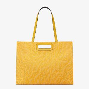 Fendi Yellow FF Vertigo Shopping Bag