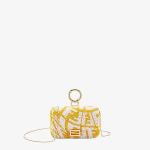 Fendi Yellow Nano Baguette Charm Bag