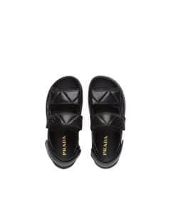 Prada Black Padded Nappa Leather Sandals