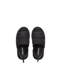 Prada Black Padded Nylon Sandals