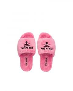 Prada Petal Pink Terry Cloth Slides