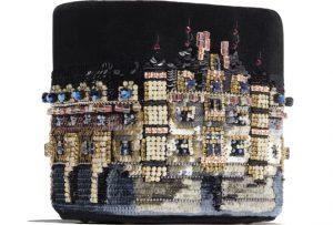 Chanel Embroidered Drawstring Bag
