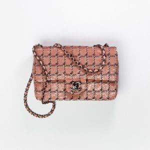 Chanel Pink, Black & Ruthenium Sequins Small Flap Bag