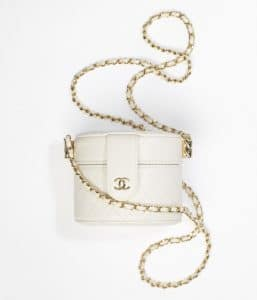 Chanel White Small Vanity With Chain
