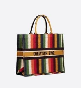 Dior Multicolor D-Stripes Book Tote